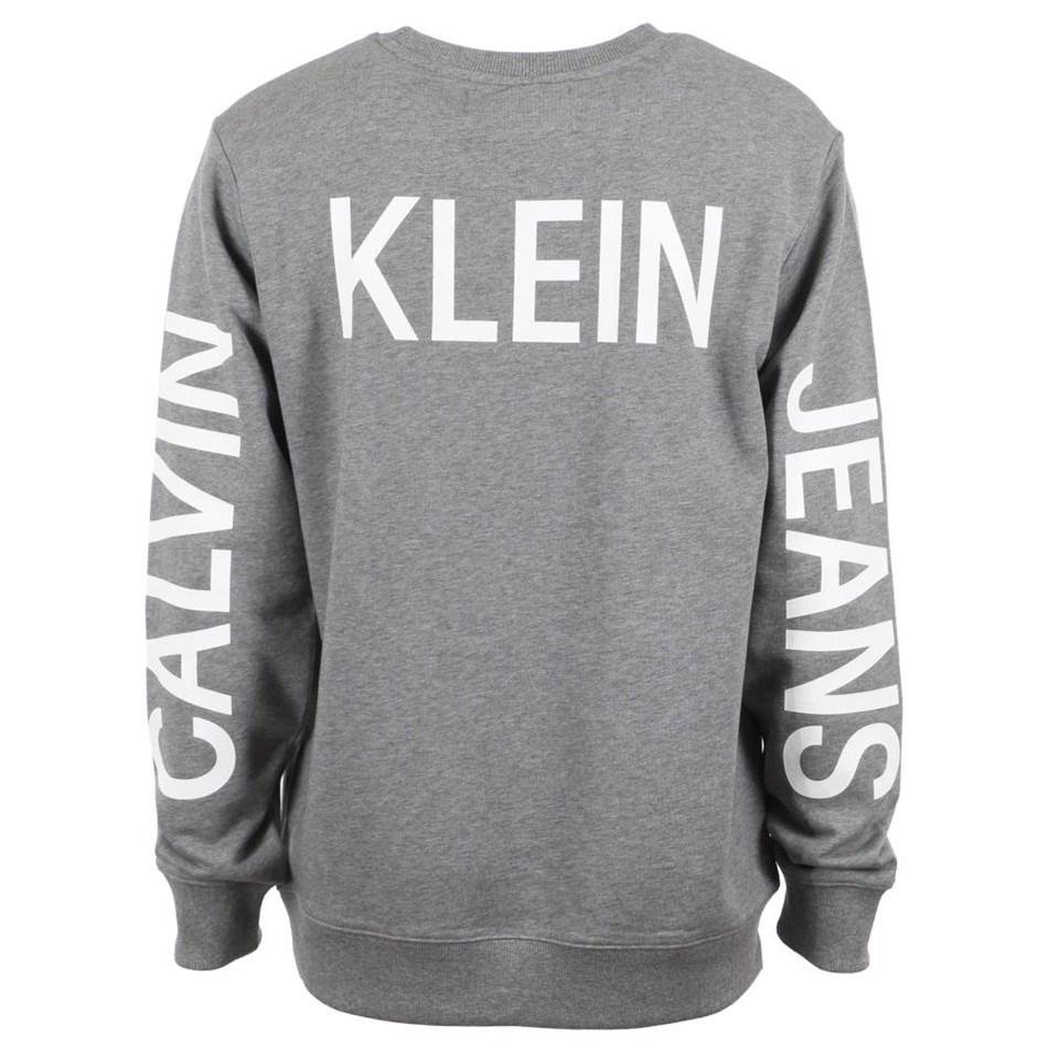 Calvin Klein Instnal Logo Cn Gry Htr Ckjm Swt -