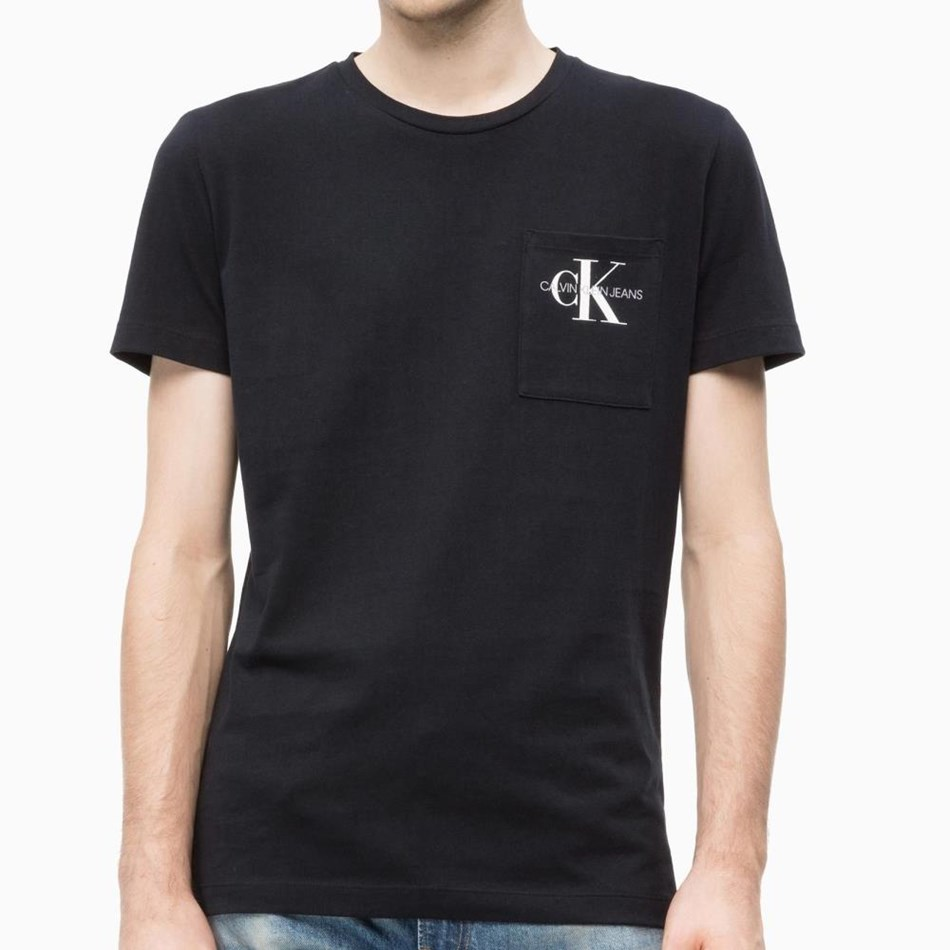 Calvin Klein Monogram Pocket Slim Tee - ck black