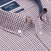 T.M.Lewin Shirt Red Blue Gingham Twill -