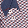 T.M.Lewin Shirt Red Blue Gingham Twill - red blue