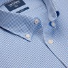 T.M.Lewin Shirt Blue Gingham Stretch -