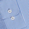T.M.Lewin Shirt Blue Gingham Stretch - blue