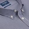 T.M.Lewin Shirt Navy Gingham Stretch -
