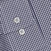 T.M.Lewin Shirt Navy Gingham Stretch - blue