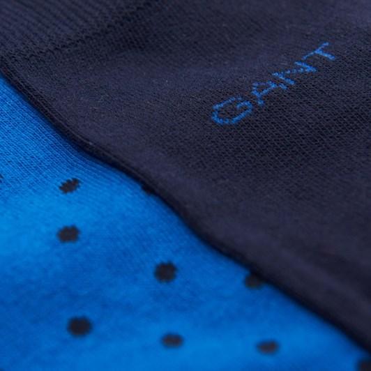 Gant 2-Pack Dot And Solid Socks