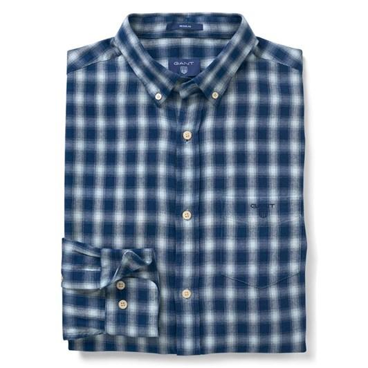 Gant O2. Windblown Flannel Indigo R