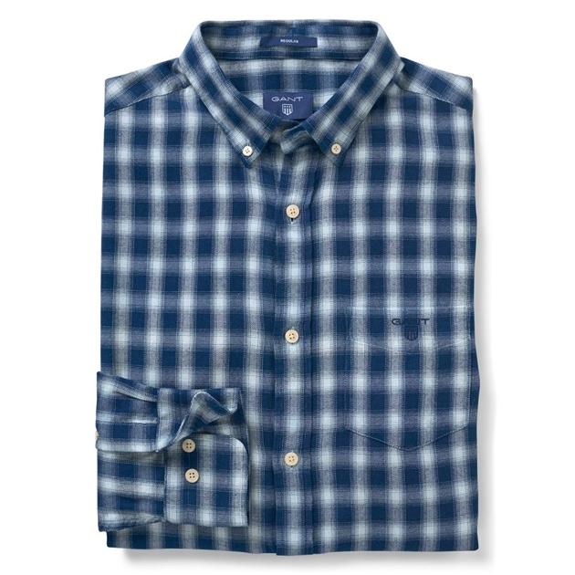 2dc9ea83ed Shirts - long sleeve - Gant O2. Windblown Flannel Indigo R ...