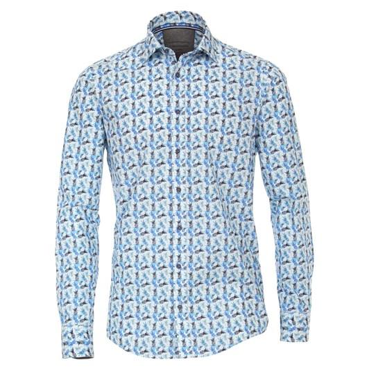 Casamoda Shirt Casual Long Sleeve Kent Print