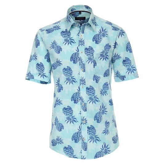 Casamoda Shirt Casual 1/2 Sleeve Kent Print
