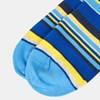 Ted Baker Stripe Print Sock - 16 bright blue