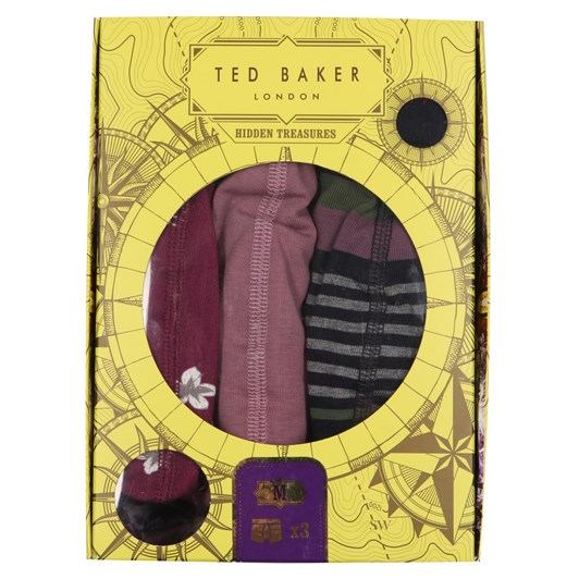 Ted Baker Bird And Stripe Boxer 3 Pack