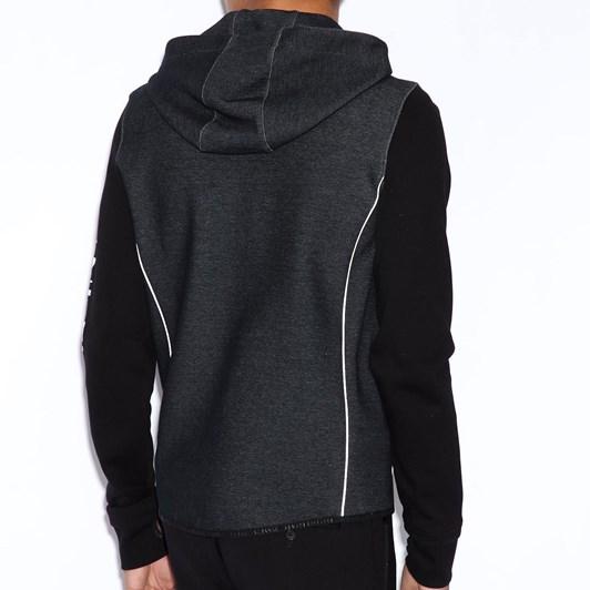 Armani Exchange Hooded Sweatshirt With Contrast Sleeves