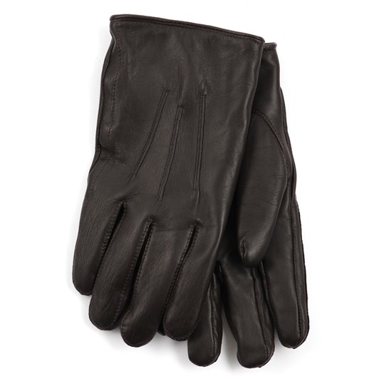 Hills Hats  Mens Sheepskin Leather Glove - Cashmere Lined