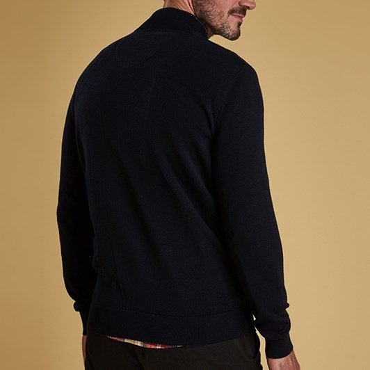 Barbour Huntly Button Thru Navy Top