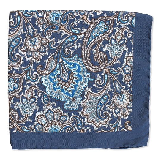 Cambridge Paisley Pocket Square