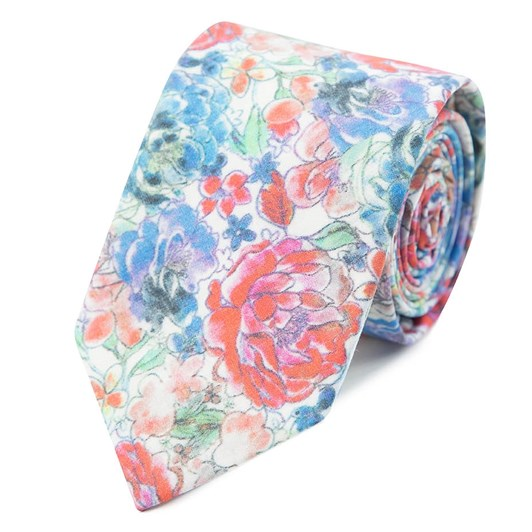 Gibson Watercolour Floral 6.5Cm Tie