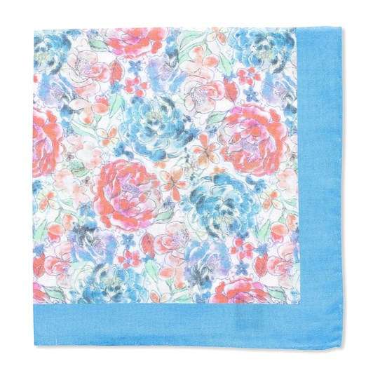 Gibson Watercolour Floral Pocket Square