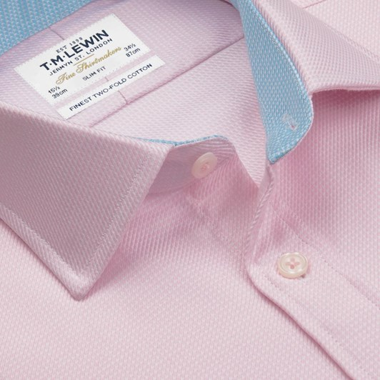 T.M.Lewin Slim Single Cuff Arrow Twill Pink Shirt