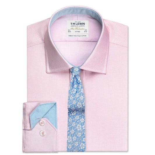 T.M.Lewin Fitted Single Cuff Arrow Twill Pink Shirt