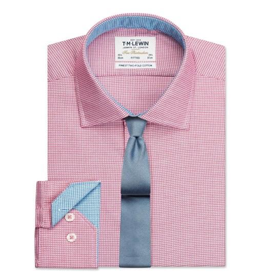T.M.Lewin Fitted Single Cuff Arrow Twill Magenta Shirt