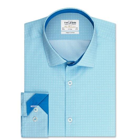 T.M.Lewin Thatch Link Aqua Shirt