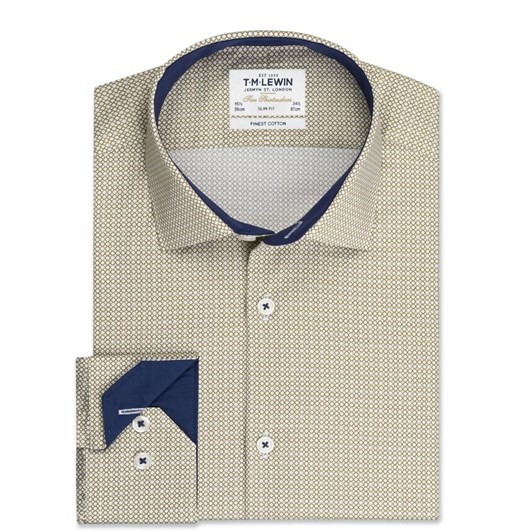 T.M.Lewin Thatch Link Stone Shirt