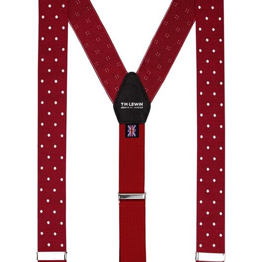T.M.Lewin Coloured Braces Red White Dot Braces