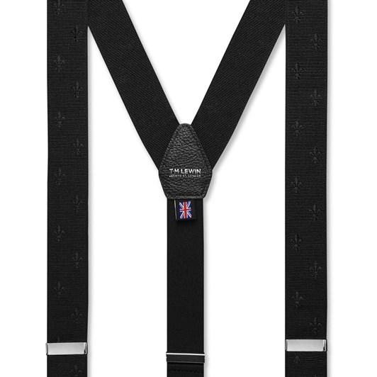 T.M.Lewin Design Brace Black Fleur Braces