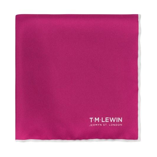 T.M.Lewin Plain Fuschia Pink Pocket Square