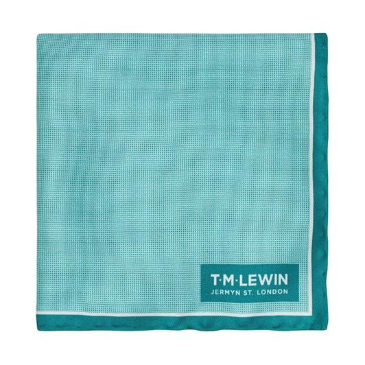 T.M.Lewin Semi Plain With Border Pocket Square