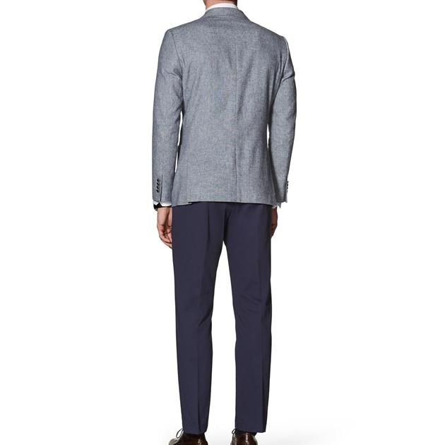 T.M.Lewin Farnham Blue Grey Jacket  -