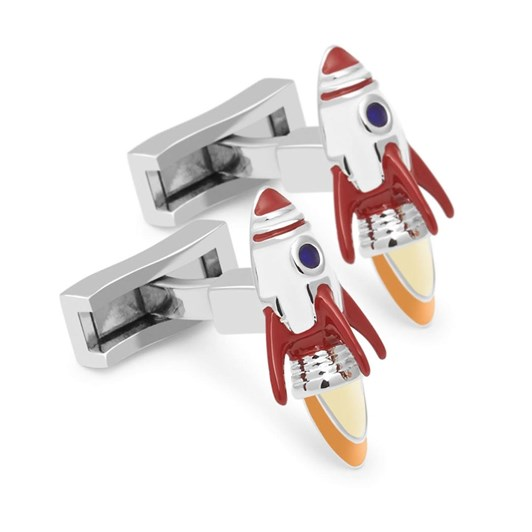 T.M.Lewin 3D Enamel Rocket Cufflink