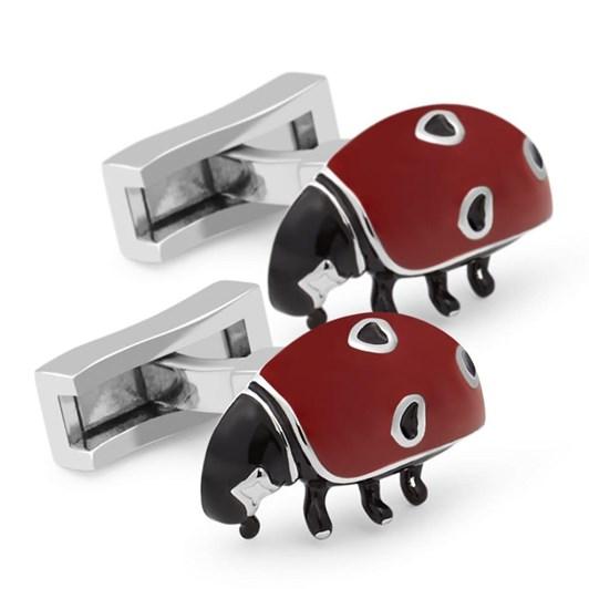 T.M.Lewin 3D Enamel Ladybird Cufflinks