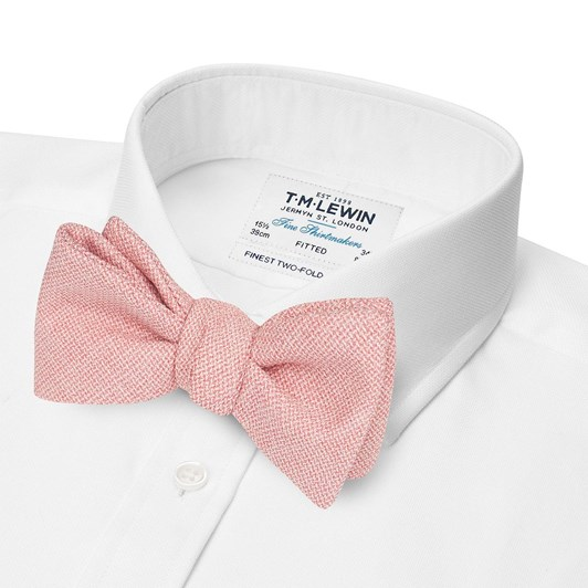 T.M.Lewin Wool Light Pink Bow Tie