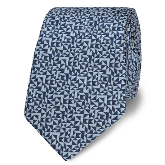 T.M.Lewin Abstract Triangle Navy Blue Tie