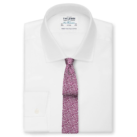 T.M.Lewin Abstract Triange Pink White Tie