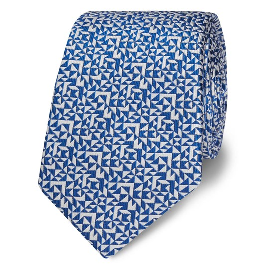 T.M.Lewin Abstract Triange Royal White Tie