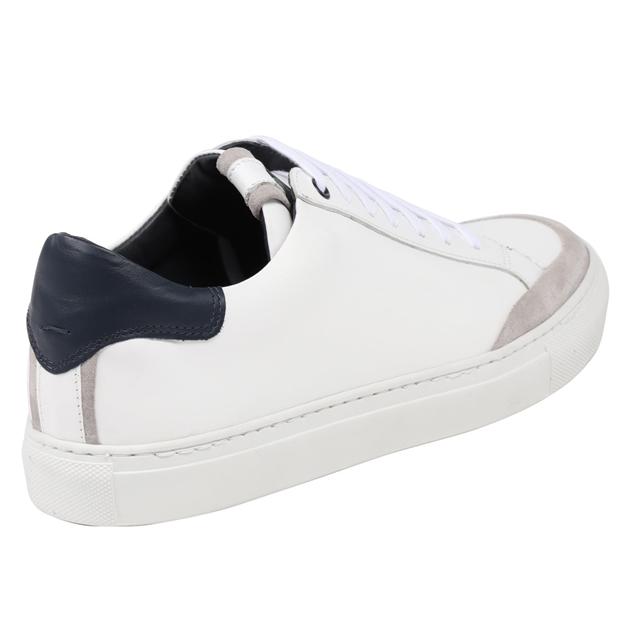 J Ballantyne & Co  Mens Dress Shoes - white navy