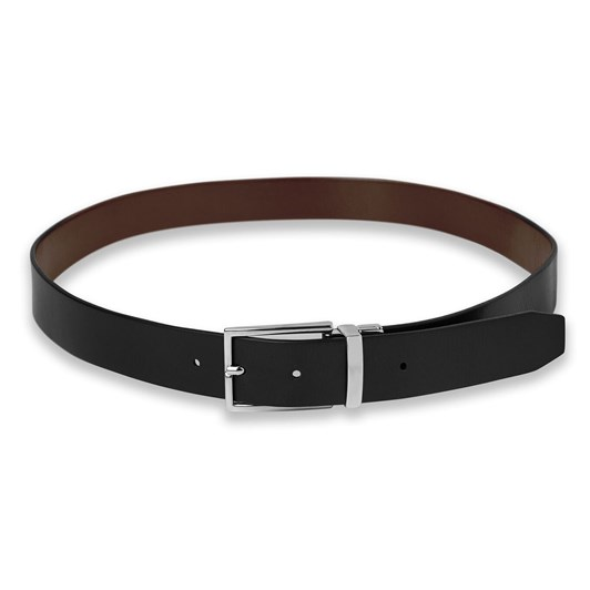T.M.Lewin Black and Brown Italian Leather Reversible Belt