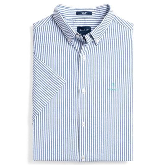 Gant Regular Fit Tech Prep™Short Sleeve Seersucker Stripe Shirt