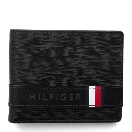 Tommy Hilfiger Textured Leather Small Card Wallet