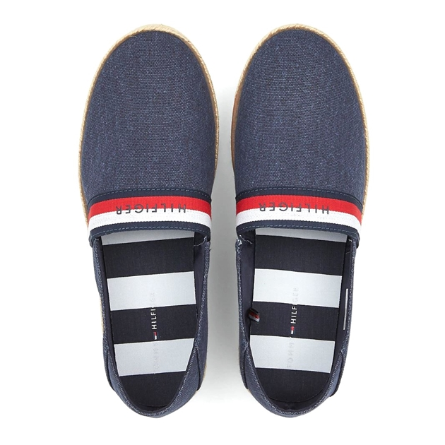 Tommy Hilfiger Cotton Slip-On Shoes - midnight