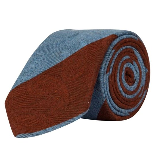 Rembrandt Light Blue & Brown Stripe Tie