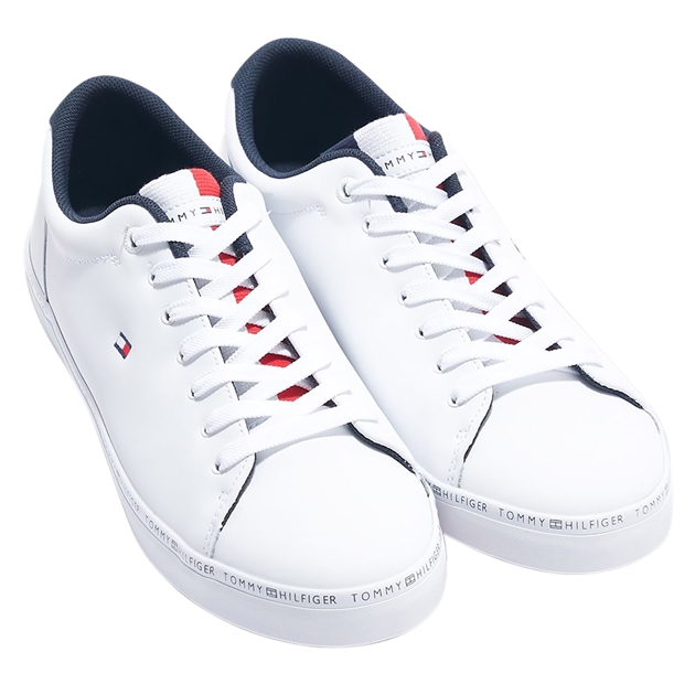 Tommy Hilfiger Essential Leather Vulc - white