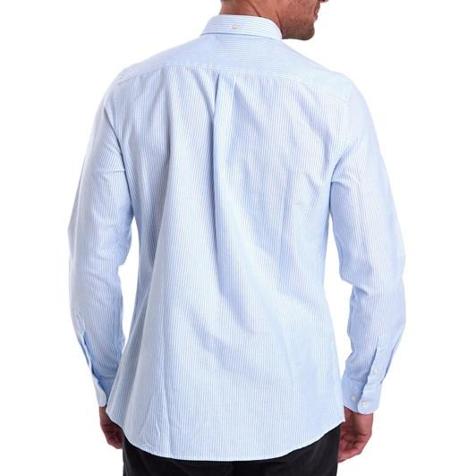 Barbour Stripe 9 Tailored Shirt - Sky