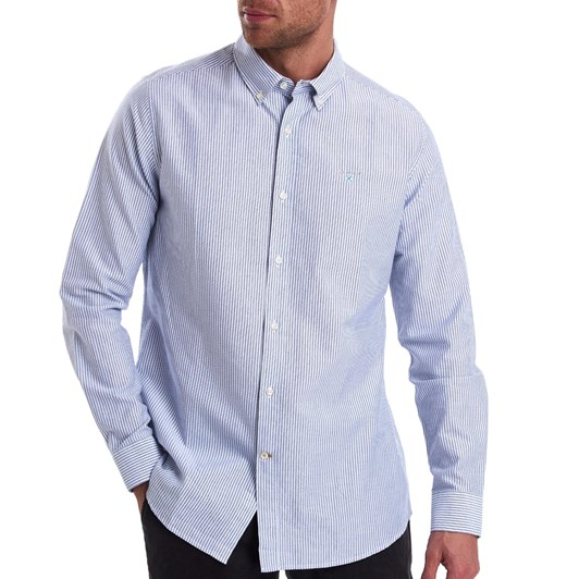 Barbour Stripe 9 Tailored Shirt - Indigo
