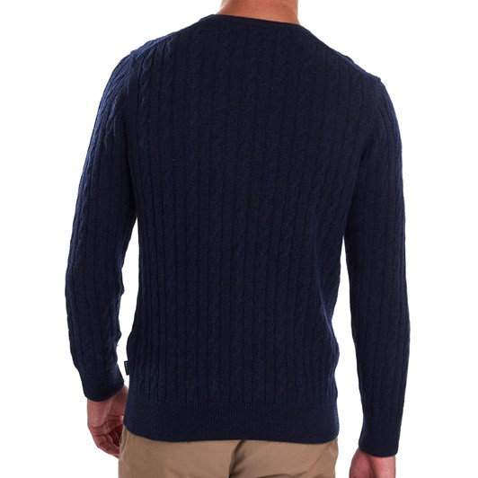 Barbour Essential Cable Crew - Navy