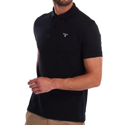 Barbour Tartan Pique Polo - Black/Modern