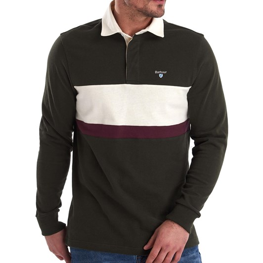 Barbour Weston Panel Rugby - Forest
