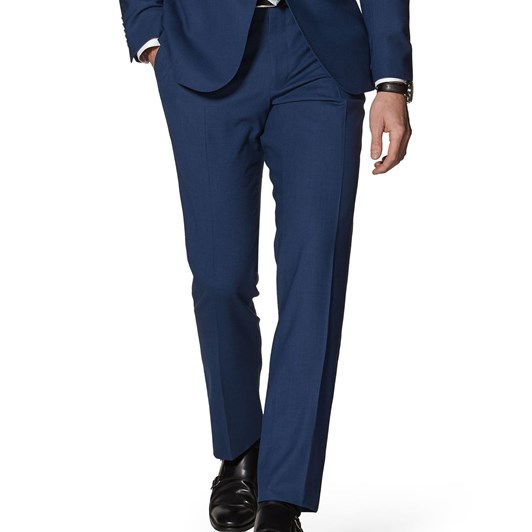 T.M.Lewin Hamilton Blue 4Ply Slim Trousers